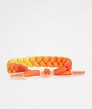 Rastaclat Full Braid Bright Orange Bracelet