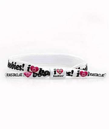 Rastaclat I Love Boobies 2.0 pulsera blanca