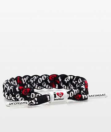 Rastaclat I Love Boobies Black Classic Bracelet