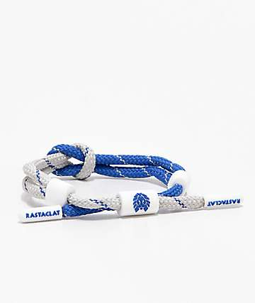 Rastaclat Knotaclat Flight Blue & White Bracelet