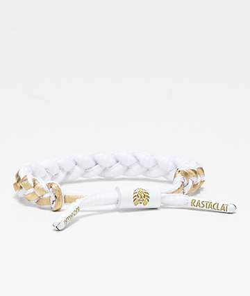Rastaclat Miniclat North Star White & Gold Bracelet