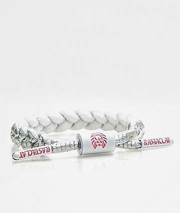 Rastaclat Miniclat Sparkle Silver & White Bracelet