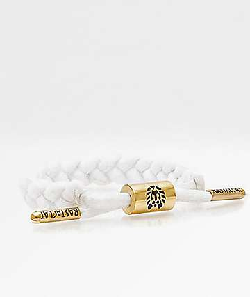 Rastaclat Miniclat Zion White & Gold Bracelet