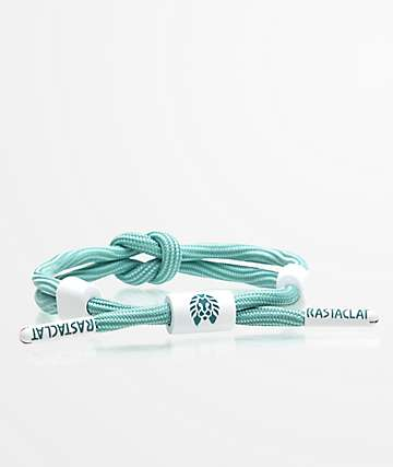 Rastaclat Phosphene Knotaclat Blue & White Bracelet