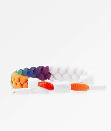 Rastaclat Pride White & Rainbow Bracelet