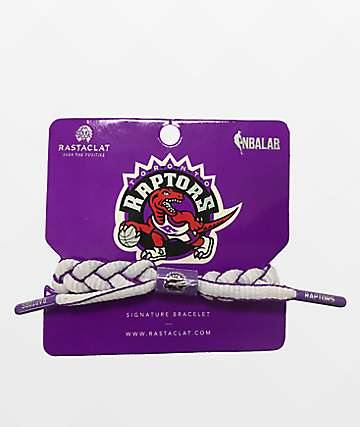 Rastaclat Raptors Hardwood Classic White & Purple Bracelet