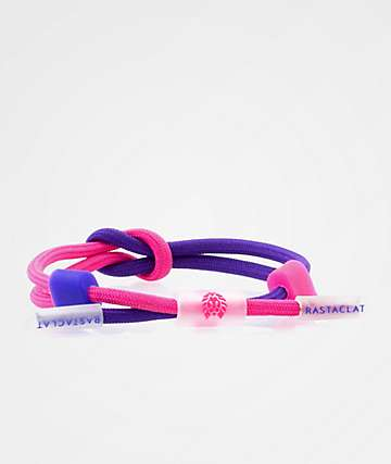 Rastaclat Truth Quest Neon Purple & Pink Bracelet
