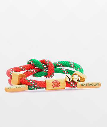 Rastaclat Ugly Sweater Red & Green Small-Medium Bracelet