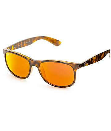 Ray-Ban Andy Tortoise & Red Flash Polarized Sunglasses