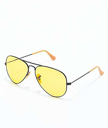 Ray-Ban Aviator Evolve gafas de sol en negro y color amarillo