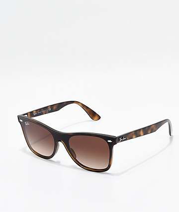 Ray-Ban Blaze Wayfarer Tortoise & Light Havana Gradient Sunglasses