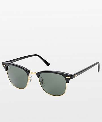 344267d1dc86c Ray-Ban Clubmaster Black   Gold Sunglasses