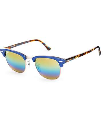 Ray-Ban Clubmaster Blue & Rainbow Sunglasses