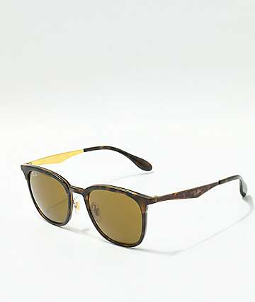Ray-Ban Highstreet Havana Brown Tortoise Sunglasses