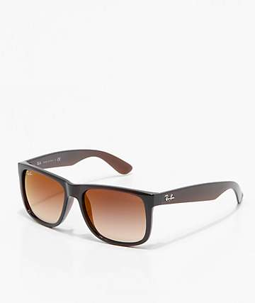 Ray-Ban Justin Brown & Gradient Red Mirror Sunglasses
