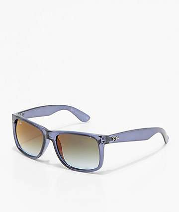Ray-Ban Justin Flash Green Gradient Mirror Blue Sunglasses