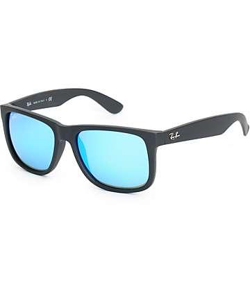 Ray-Ban Justin gafas de sol en azul espejado