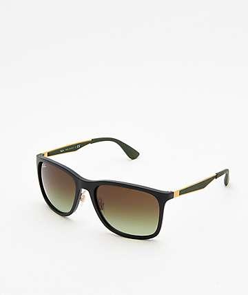 bc9dfd665d7 Ray-Ban RB4313 Matte Black   Gold Sunglasses