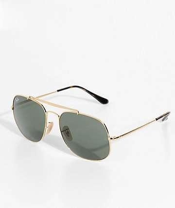 Ray-Ban The General gafas de sol en negro y color oro
