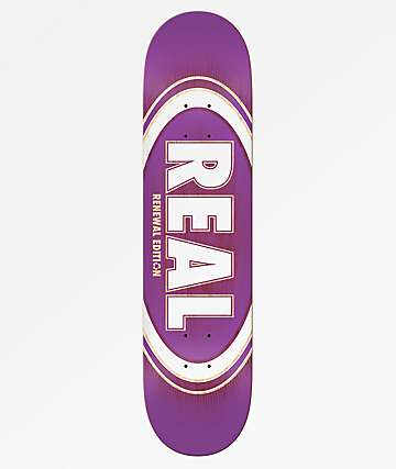 "Real Oval Burst Fade 8.25"" Skateboard Deck"