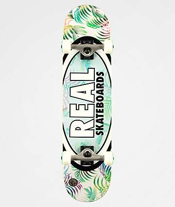 "Real Oval Tropics 7.75"" Skateboard Complete"