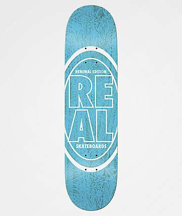 "Real Stacked Floral Renewal Blue 8.25"" Skateboard Deck"