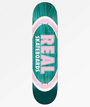 "Real Team Dual Ovals Pine & Pink 8.06"" Skateboard Deck"