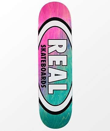 "Real Team Oval Angle Dip 8.5"" Skateboard Deck"