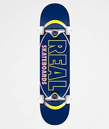 "Real Team Oval Gleams 8.0"" Skateboard Complete"