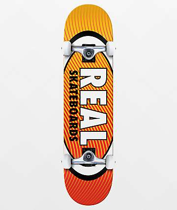 "Real Team Oval Heatwave 7.75"" Skateboard Complete"