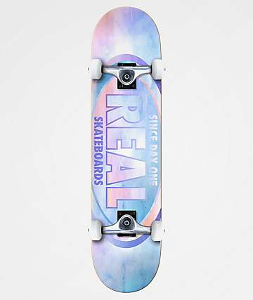 "Real Team Oval Watercolor 8.0"" Skateboard Complete"