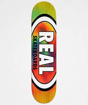 Real Tie Dye Oval 7.75& Skateboard Deck
