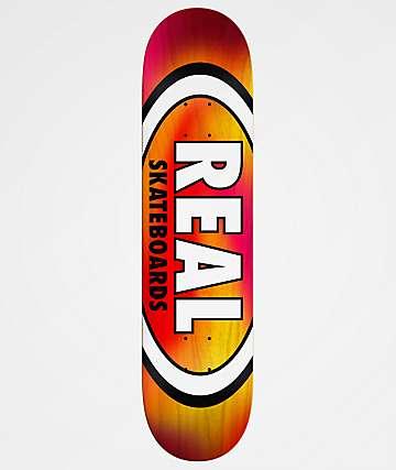 Real Tie Dye Oval 8.38& Yellow & Red Skateboard Deck