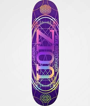 """Real Zion Oval 8.06"""" Purple Skateboard Deck"""