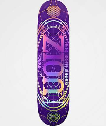 "Real Zion Oval 8.06"" tabla de skate morada"