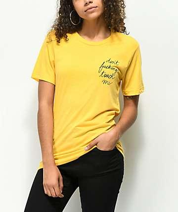 Rebel Soul Don't Fucking Touch Me camiseta amarilla