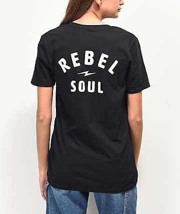 Rebel Soul camiseta negra