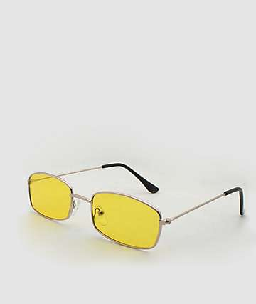 Rectangle Yellow Sunglasses