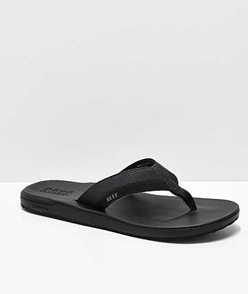 Reef Contoured Cushion Black Sandals