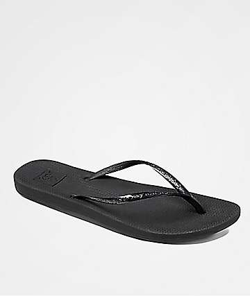 Reef Escape Lux Black Sandals