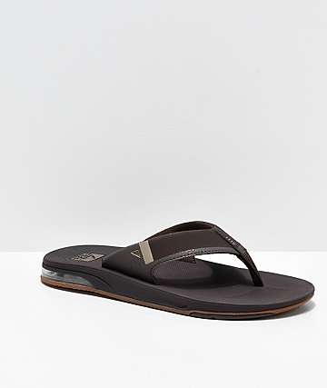 000718f38300 Reef Fanning 2.0 Brown   Gum Sandals