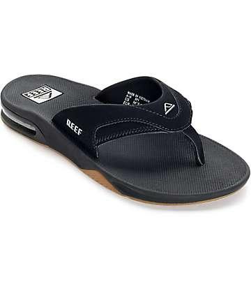 Reef Fanning Black, Silver & Gum Sandals