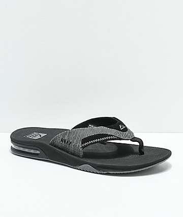 Reef Fanning Black & Grey Sandals