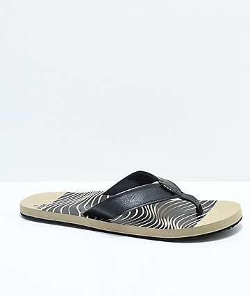 Reef Twinpin Khaki Print Sandals