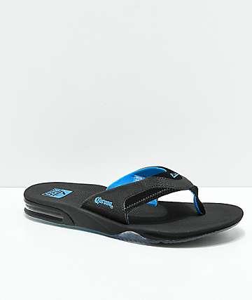 Reef x Corona Fanning Black Sandals