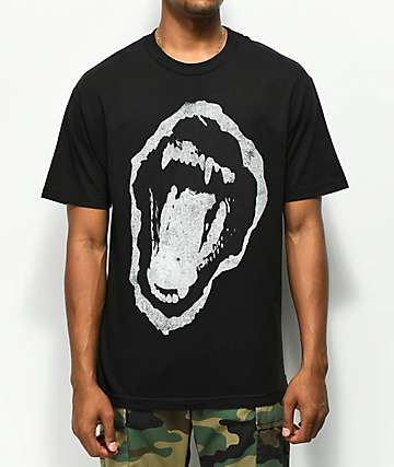 Renowned Hyena Mouth Black T-Shirt