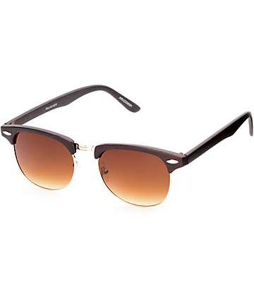 Retro Kruz gafas de sol en madera marrón