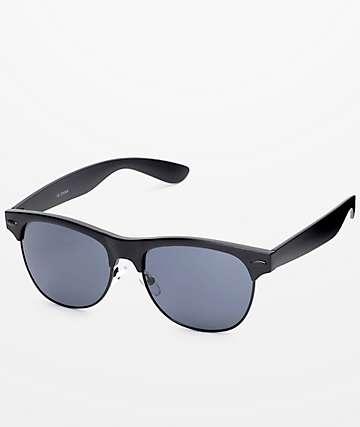 Retro Matte gafas en sol en negro