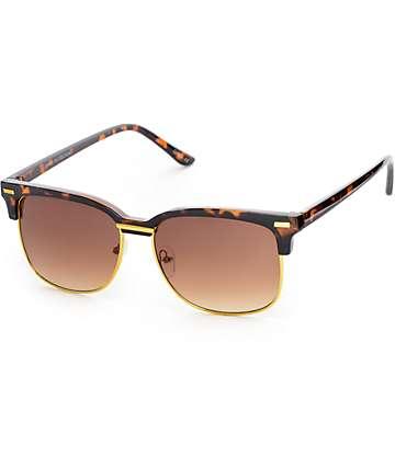 Retro gafas de sol en carey y dorado