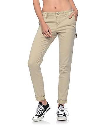 Rewash Hana Khaki Stretch Cargo Skinny Pants